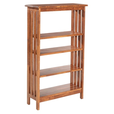 Arts and Crafts Style Wooden Bookcase