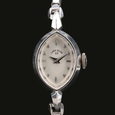 14K Lady Elgin Stem Wind Wristwatch