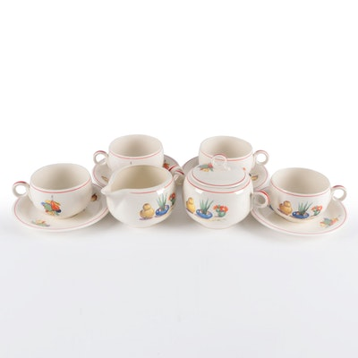 "Homer Laughlin Swing Eggshell ""Conchita"" Ceramic Tableware, 1940"