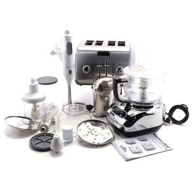KitchenAid Food Processor, Immersion Blender, Toaster and Breville Hand Mixer