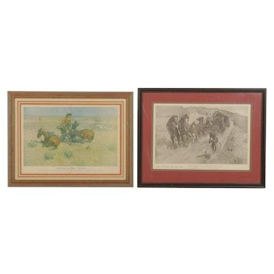 Photomechanical Prints After Frederic Remington