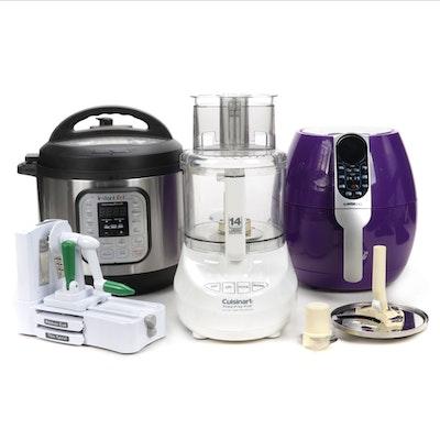 Assortment of Kitchen Appliances Feat. an Insta Pot, and Food Processor