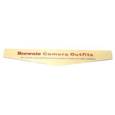Eastman Kodak Brownie Camera Retail Display Sign, Mid-20th Century