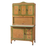 Sellers Oak Hoosier Cabinet, Circa 1930