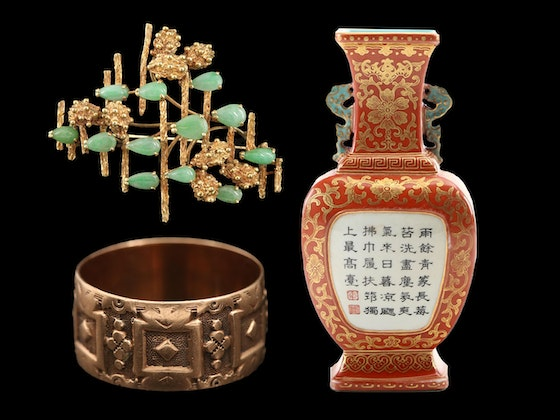 Asian Décor, Sterling Silver, Books  & Vintage Jewelry