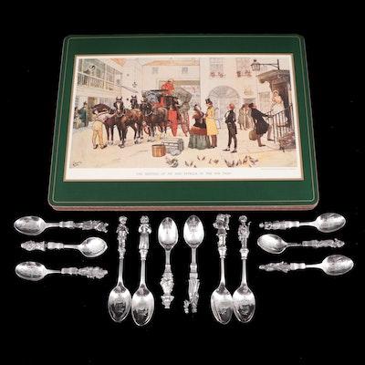 "Reed & Barton ""A Christmas Carol"" Spoons, Christmas Spoons and Placemats"