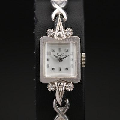 14K Lady Hamilton 0.06 CTW Diamond Wristwatch