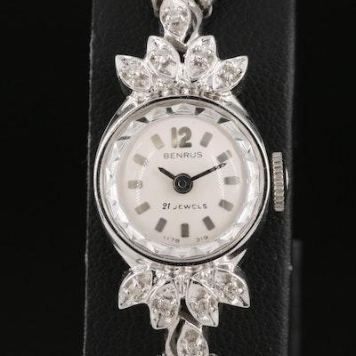 14K Benrus 0.10 CTW Diamond Wristwatch