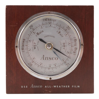 Ansco Advertising Wood Cased Barometer, Mid-20th Century