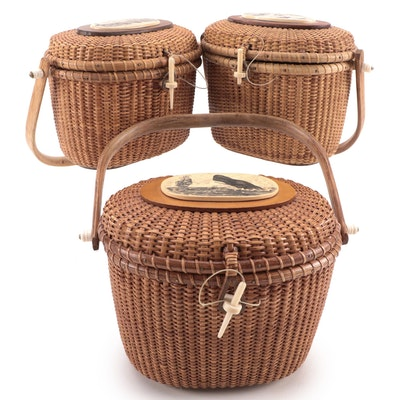 Barlow Nantucket Style Woven Basket Handbags and Farnum Basket Handbag