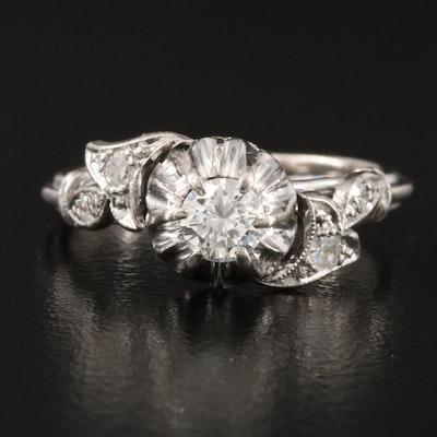 Vintage 14K Gold 0.32 CTW Diamond Ring