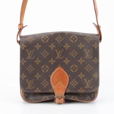Louis Vuitton Paris Cartouchiere MM Bag in Monogram Canvas and Vachetta Leather