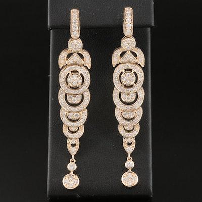 14K 2.52 CTW Diamond Graduated Earrings