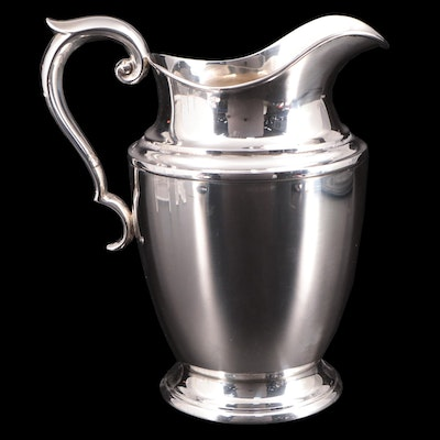 Alvin Sterling Silver 4 1/2 Pint Water Pitcher