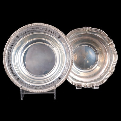 Fisher Silversmiths Pierced and Scalloped Sterling Silver Vegetable Bowls