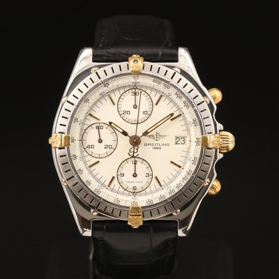 Breitling Chronomat Two Tone Stainless Steel Automatic Wristwatch