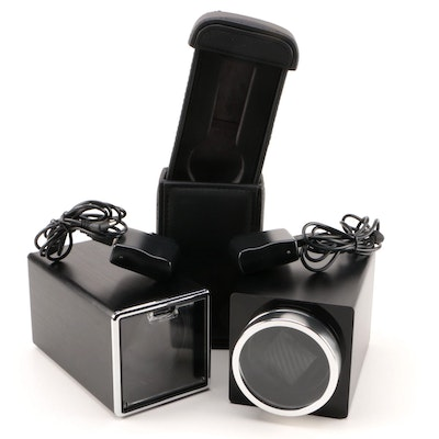 Single Watch Winders with Leather Watch Case