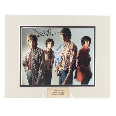 """David Gilmour and Roger Waters Signed """"Pink Floyd"""" Photo Print, COA"""