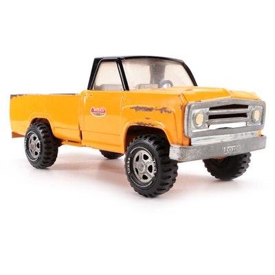 Tonka Toys Pressed Steel Yellow and Black Pick-Up Truck