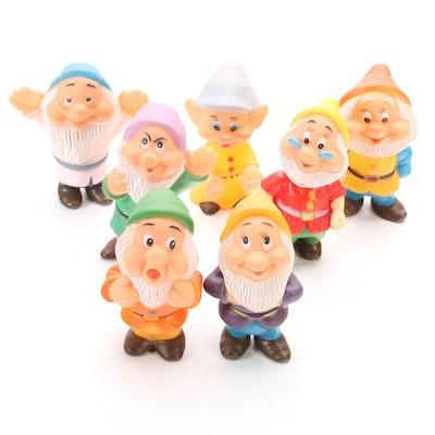 Walt Disney Productions Squeaky Rubber Seven Dwarfs, Mid-20th Century