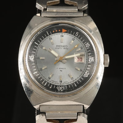 Seiko Matic Lady Stainless Steel Wristwatch
