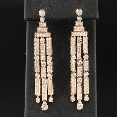 14K 2.52 CTW Diamond Waterfall Earrings