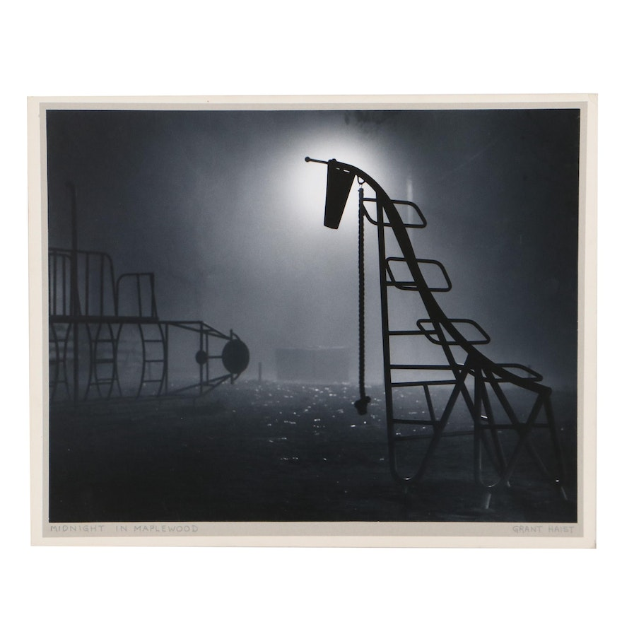 """Grant Haist Silver Print Photograph """"Midnight in Maplewood"""""""