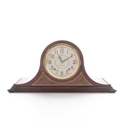 Plymouth Clock Co. Tambour Case Eight-Day Mantel Clock, Mid-20th Century
