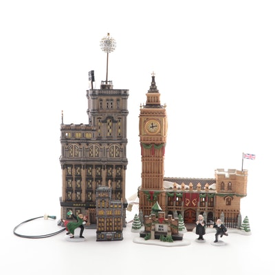 """Dept. 56 Special Edition """"The Times Tower"""" and """"Big Ben"""" Porcelain Buildings"""