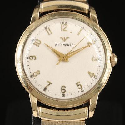 Vintage Wittnauer 10K Gold Filled Stem Wind Wristwatch