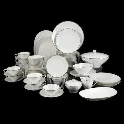 Rosenthal-Continental White Platinum Rim China Dinnerware