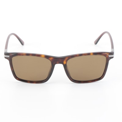 Prada SPR19X Square Dark Havana Frame Sunglasses with Brown Polarized Lenses