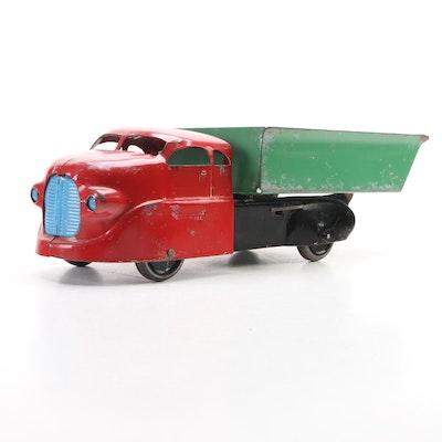 Wyandotte Toys Pressed Steel Dump Truck, 1943