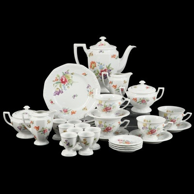 "Rosenthal-Continental ""Flowers"" Porcelain Breakfast Tea Set"