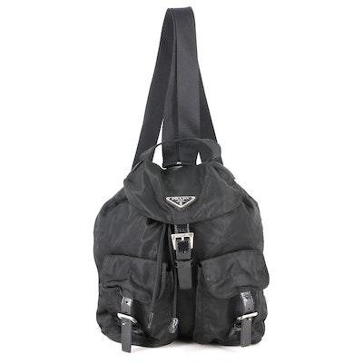 Prada Small Backpack in Black Tessuto Nylon and Leather