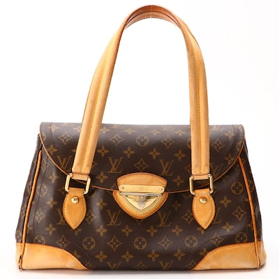 Louis Vuitton Beverly GM in Monogram Canvas and Vachetta Leather