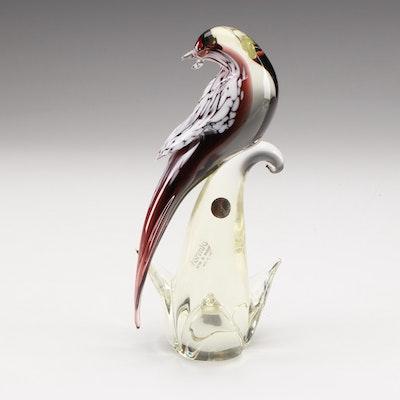 Formia Murano Art Glass Bird