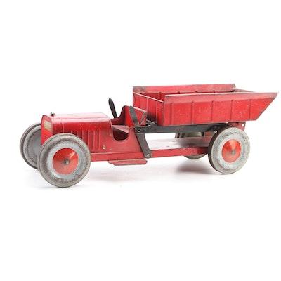 Structo Toys Pressed Steel Open Cab Dump Truck, circa 1930