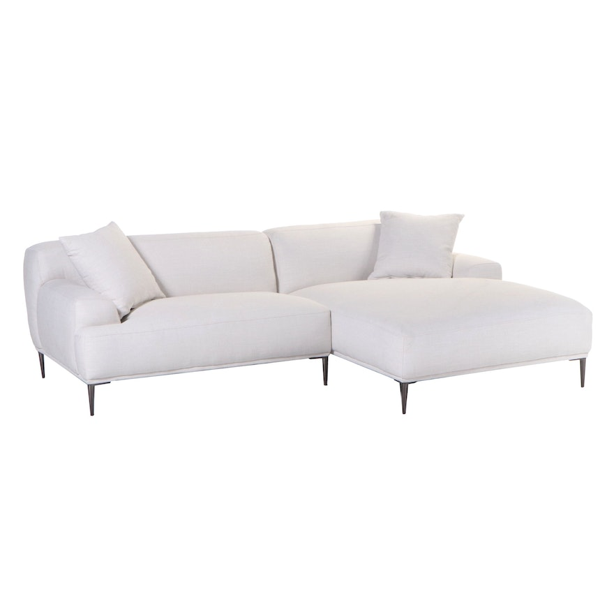 Article. Cream Upholstered Sectional Sofa