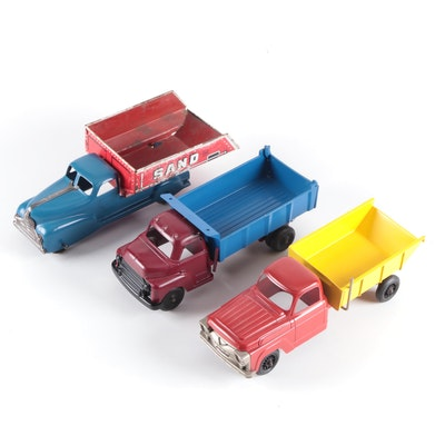 Structo and Other Pressed Steel Dump Trucks, Early to Mid-20th Century