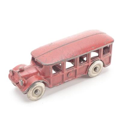 Arcade Model 1558 Cast Iron Toy Bus, 1930s