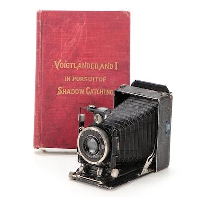 """Voigtländer Compur Folding Camera and """"Voigtländer and I"""" Book, Early 20th C"""
