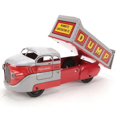 Wyandotte Pressed Steel Dump Truck Toy, Mid-20th Century