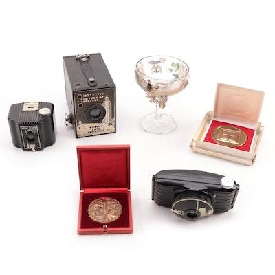 Kodak Commemorative World's Fair Cameras and Other World's Fair Souvenirs