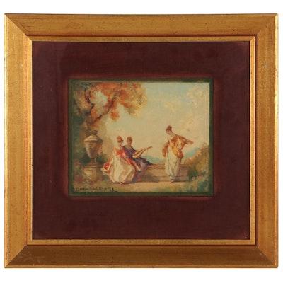 Frederick Ballard Williams Leisure Scene Oil Painting