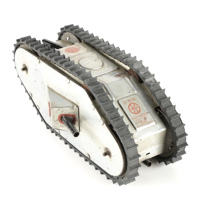 Louis Marx & Co Wind-Up Rollover Tin Military Tank, Early 20th Century