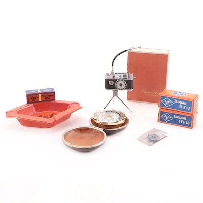 """""""Photo-Flash"""" Table Lighter with Agfa Film Box Ashtray, Film Canisters, and More"""
