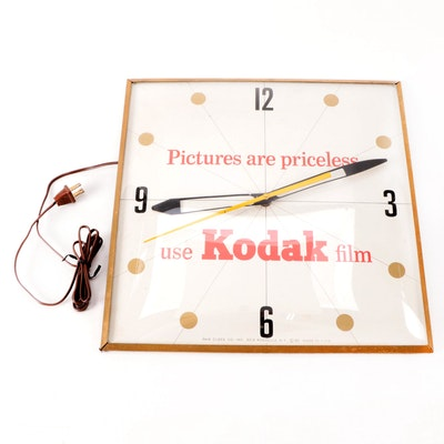 Pam Clock Co. Kodak Film Wall Clock, Mid-20th Century