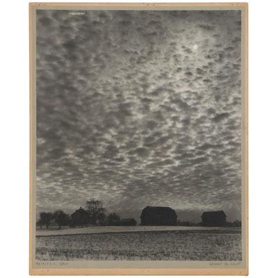 "Grant Haist Silver Print Photograph ""Winter Sky"""