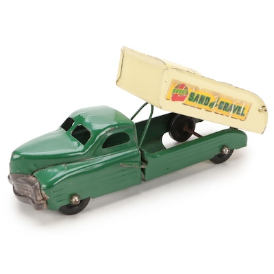 Buddy L Sand and Gravel Pressed Steel Truck Toy, Mid-20th Century